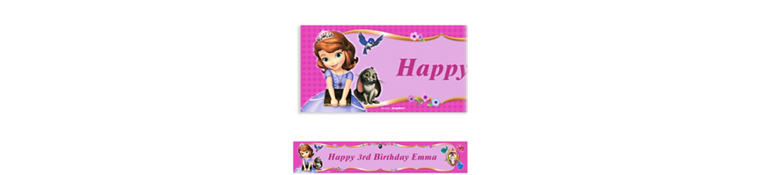 Sofia the First Custom Banner