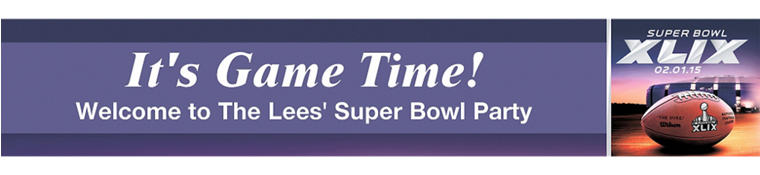 NFL Super Bowl Custom Banner