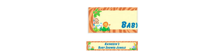 Custom Jungle Baby Shower Baby Shower Banner 6ft