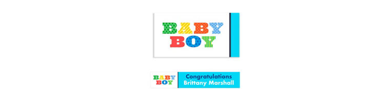 Custom Big Baby Boy Baby Shower Banner 6ft