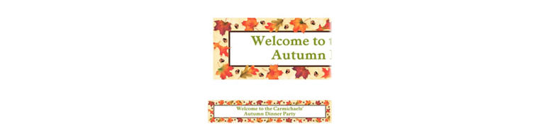 Autumn Day Custom Banner