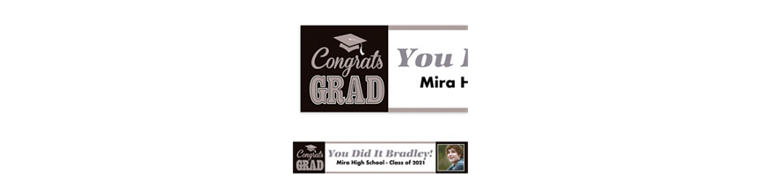 Custom Graduating Class Photo Banner 6ft