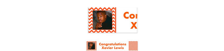 Custom Orange Chevron Photo Banner 6ft