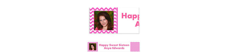 Custom Bright Pink Chevron Photo Banner 6ft