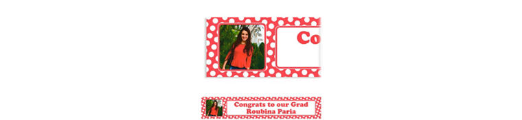 Custom Red Polka Dot Photo Banner 6ft