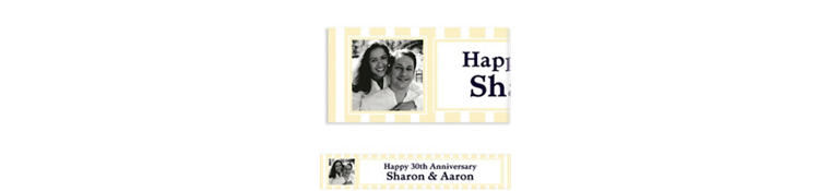 Custom Vanilla Stripe Photo Banner 6ft