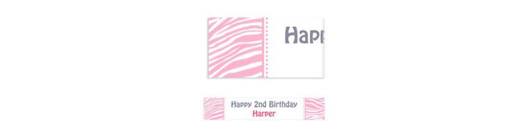 Custom Pink Zebra Banner 6ft