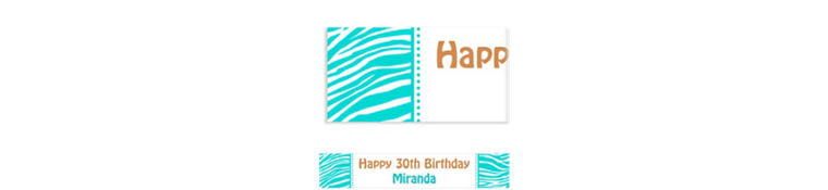 Custom Robin's Egg Blue Zebra Banner 6ft