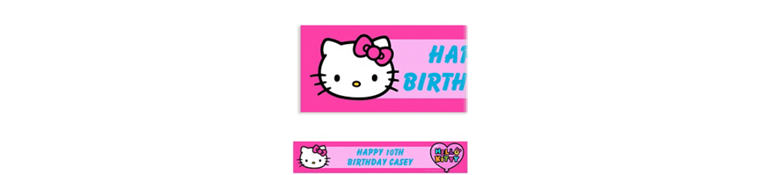 Hello Kitty Rainbow Custom Banner