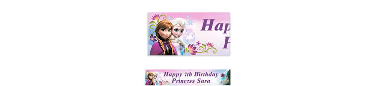 Frozen Custom Banner