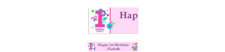 Custom Sweet Birthday Girl Banner 6ft