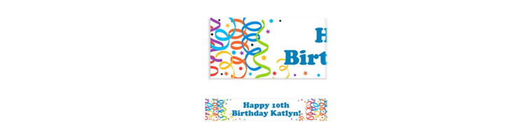Custom Colorful Birthday Banner 6ft