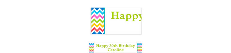 Custom Bright Rainbow Chevron Banner 6ft
