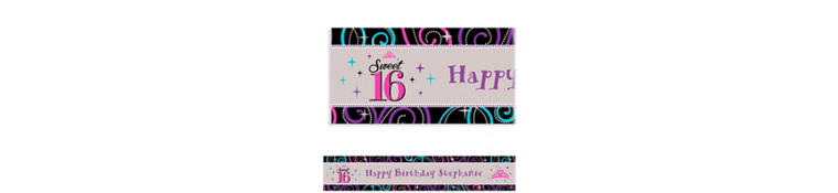 Custom Sweet 16 Celebration Banner 6ft