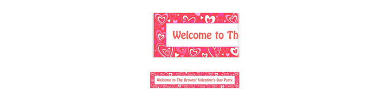 Custom Valentine Party Banner 6ft