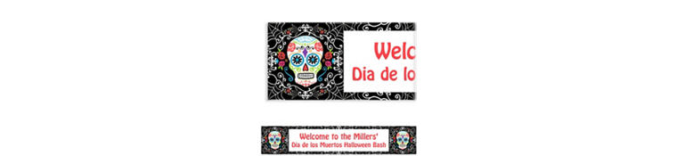 Custom Day of the Dead Banner