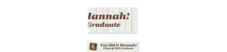 Custom White Wood Graduation Photo Banner