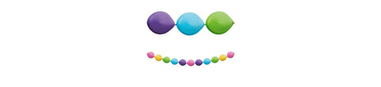Multicolor Bright Balloon Garland