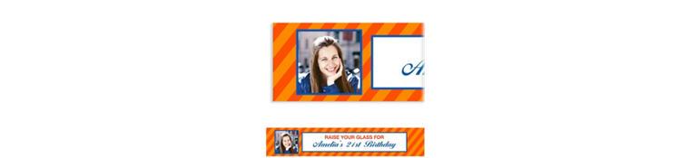 Custom Orange Generic Ticket Photo Banner