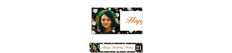 Custom Sparkling Celebration 21 Photo Banner