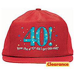 40th Birthday Baseball Hat - A Year to Celebrate