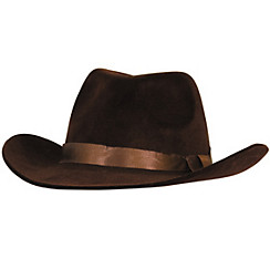Flocked Cowboy Hat