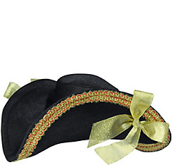 Gold Trim Pirate Hat Deluxe