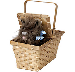 Wizard of Oz Toto in a Basket Deluxe