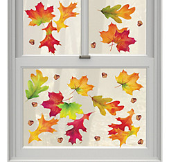 Autumn Breeze Vinyl Window Decorations 12ct
