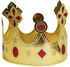 Red Glitter Gold Crown