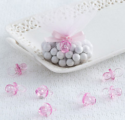 Pink Pacifier Baby Shower Favor Charms 24ct