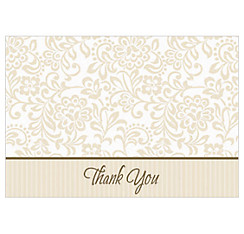 Gold Wedding Traditions Thank You Notes 8ct