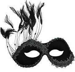 Black Persuasion Masquerade Mask