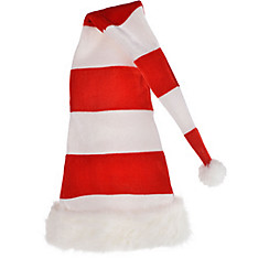 Tall Striped Santa Hat