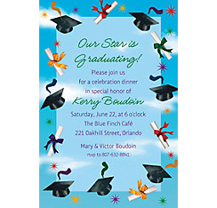 Custom Grad Spirit Invitations