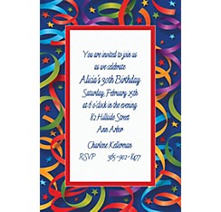 Celebration Streamers Custom Invitation