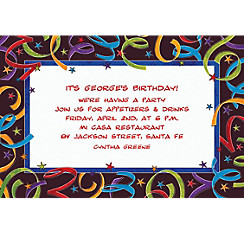 Let's Celebrate Custom Invitation