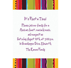 Fiesta Stripe Custom Invitation