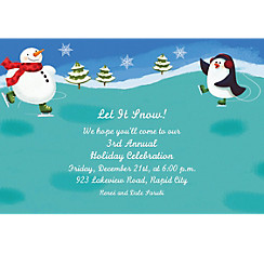 Holiday Fun Custom Christmas Invitation