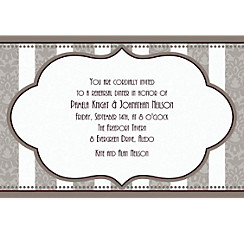Bride and Groom Custom Bridal Shower Invitation