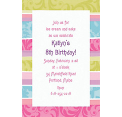 Spring Fashion Custom Invitation