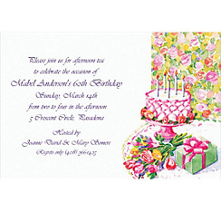 Birthday Still Life Custom Invitation