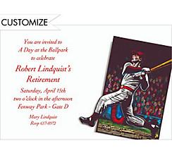 Baseball Card Custom Invitation