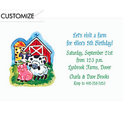 Petting Zoo Custom Invitation