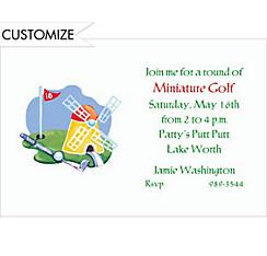 Miniature Golf Custom Invitation