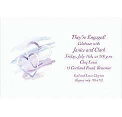 Interlocked Hearts Custom Bridal Shower Invitation