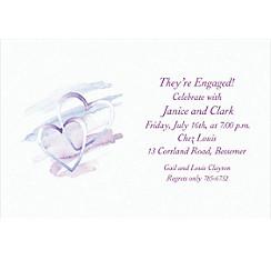 Interlocked Hearts Custom Bridal Shower Invitation