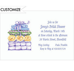 Pillows & Towels Custom Invitation