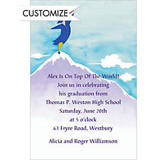 Top of the World Custom Graduation Invitation