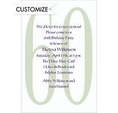 Big 60 Custom Invitation